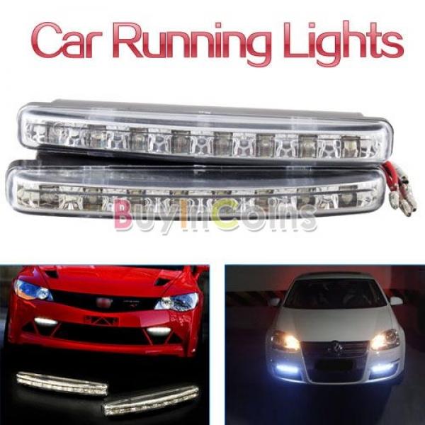 Car Daytime Running Light 8 LED DRL Daylight Kit Super White